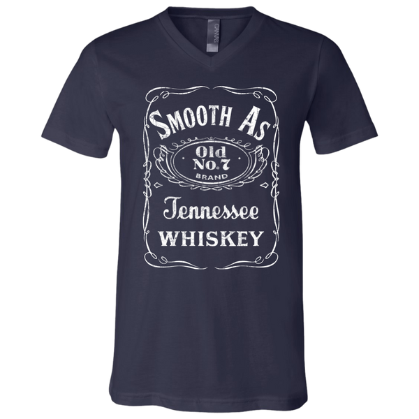 Smooth as Tennessee Whiskey Soft V-Neck Tee Shirt Navy