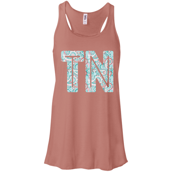 Paisley Tennessee Flowy Racerback Tank Top Mauve
