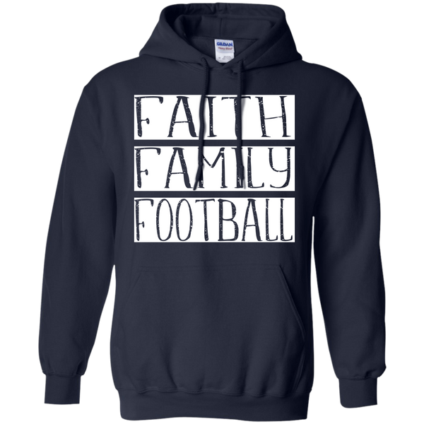 Faith Family Football Hoodie Sweatshirt Navy
