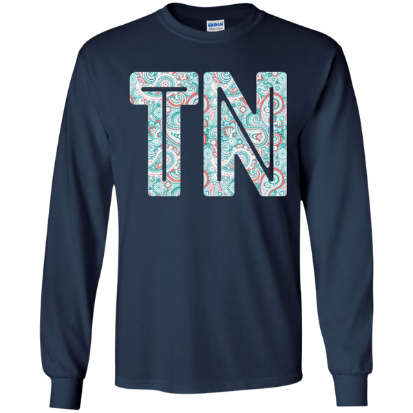 Paisley Tennessee Long Sleeve Tee Navy