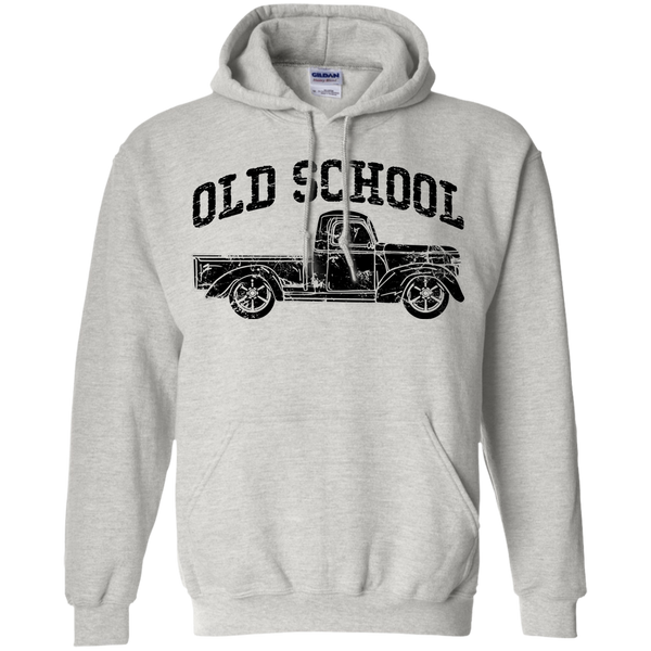 Old School Vintage Distressed Antique Truck Hoodie Ash Grey
