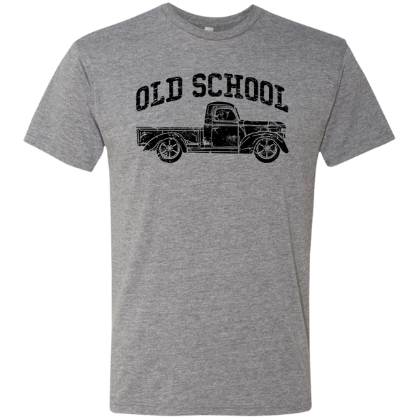 Old School Vintage Distressed Antique Truck Tee Shirt Heather Grey