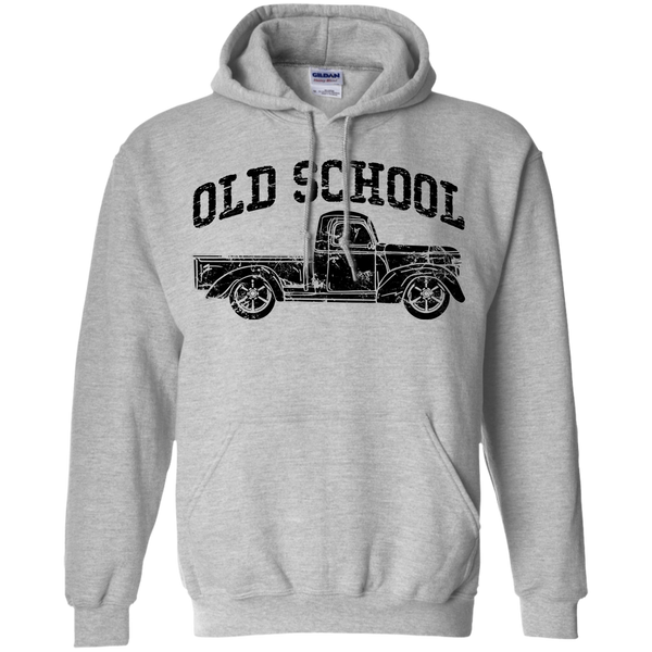 Old School Vintage Distressed Antique Truck Hoodie Sport Grey