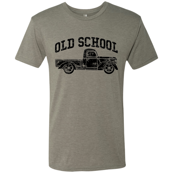 Old School Vintage Distressed Antique Truck Tee Shirt Venetian Grey