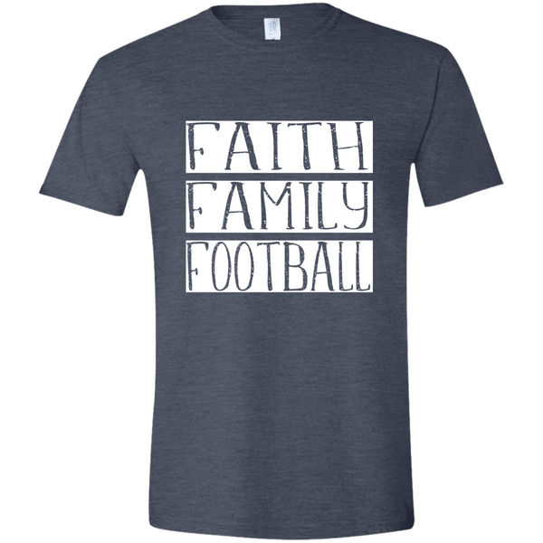 Faith Family Football Soft Tee Shirt Dark Grey