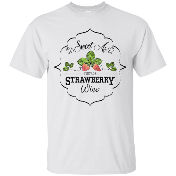 Sweet As Strawberry Wine Tee White
