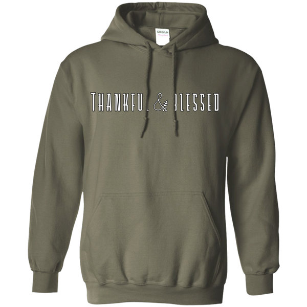 Thankful and Blessed Hoodie Sweatshirt Military Green