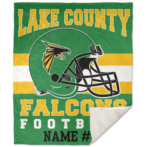 Lake County Falcons Football Premium 50x60 Sherpa Blanket