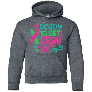 Ready to Get My Cray On Youth Kids Hoodie Sweatshirt Dark Grey