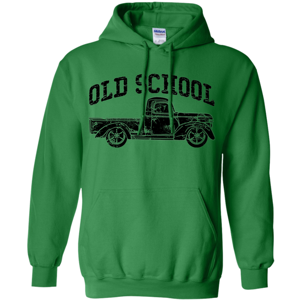 Old School Vintage Distressed Antique Truck Hoodie Green