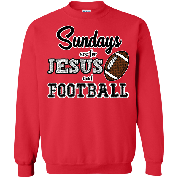 Sundays are for Jesus and Football Crewneck Sweatshirt Red