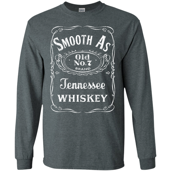 Smooth as Tennessee Whiskey Long Sleeve Tee Shirt Grey