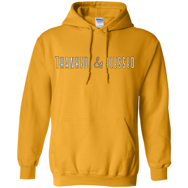 Thankful and Blessed Hoodie Sweatshirt Gold