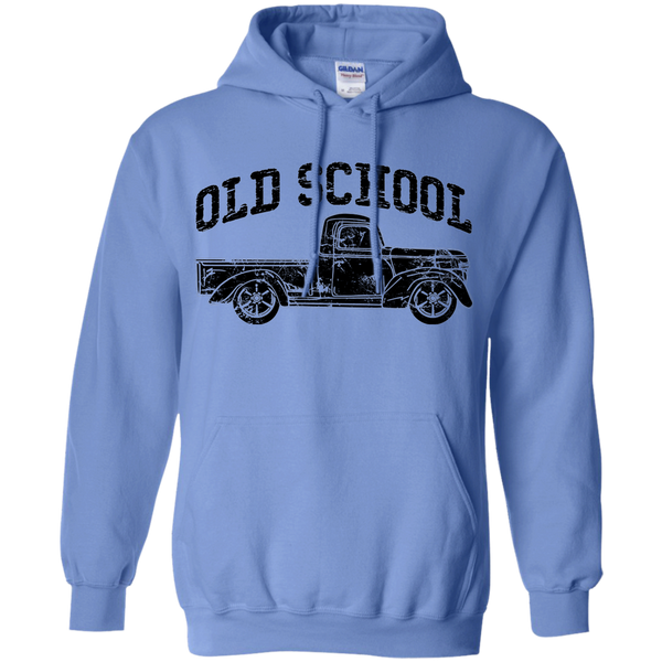 Old School Vintage Distressed Antique Truck Hoodie Carolina Blue