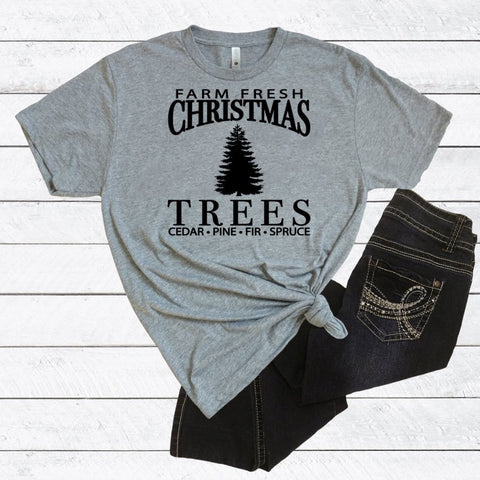 Farm Fresh Christmas Trees Triblend Tee