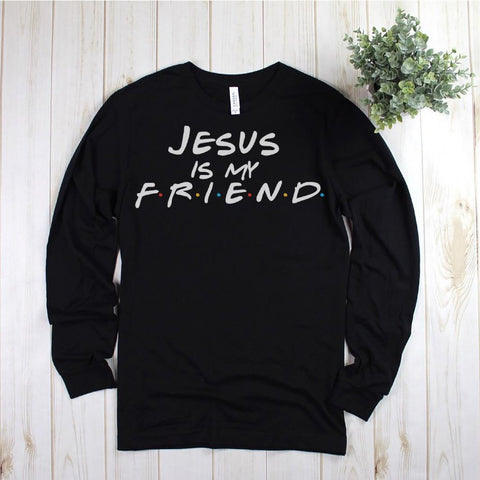 Jesus is my Friend Soft Unisex Long Sleeve Tee
