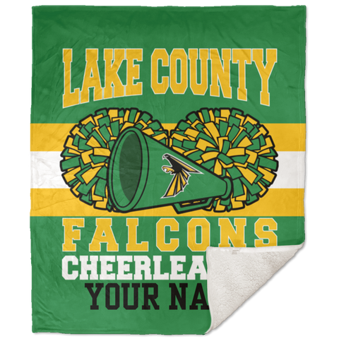 Lake County Falcons Cheerleading 50x60 Sherpa Blanket