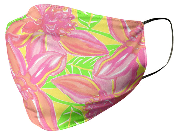 Lilly Pulitzer Inspired Lily Floral Face Mask