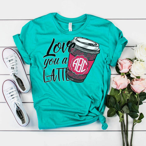 Love You A Latte Monogrammed Soft Tee