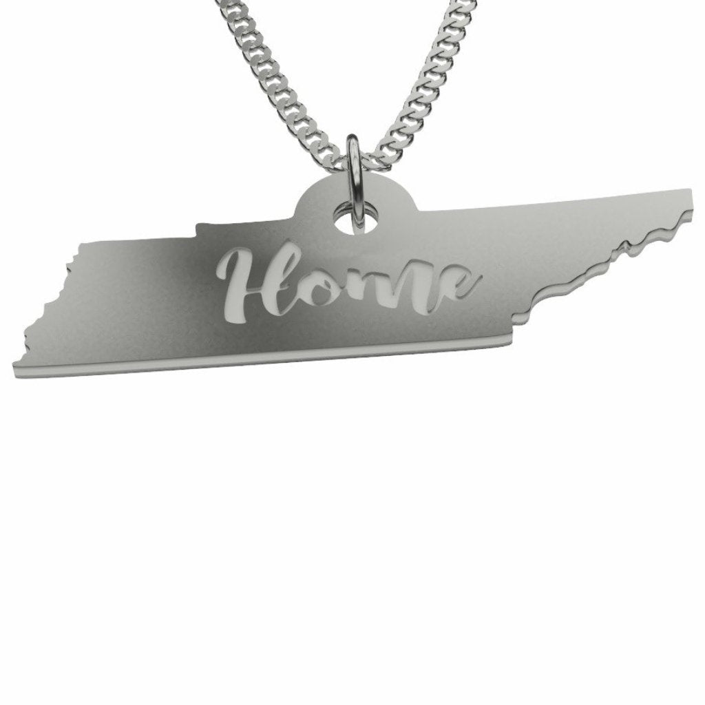 Sterling Silver Tennessee Home Pendant Necklace