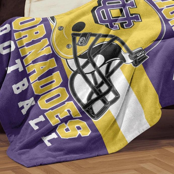 Union City Tornadoes Football Premium 50x60 Sherpa Blanket