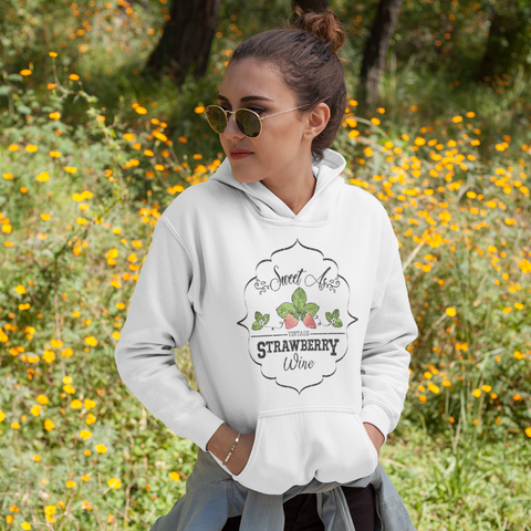 Sweet as Strawberry Wine Hoodie Sweatshirt White