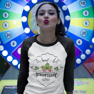 Sweet as Strawberry 3/4 Sleeve Baseball Raglan Tee