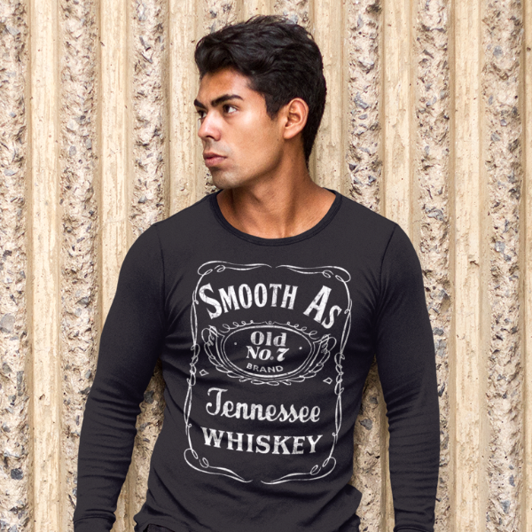 Smooth as Tennessee Whiskey Long Sleeve Tee Shirt Black