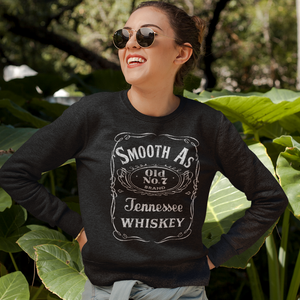 Smooth as Tennessee Whiskey Crewneck Sweatshirt Black