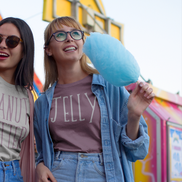 Jelly Friendship or Couples Tee Purple