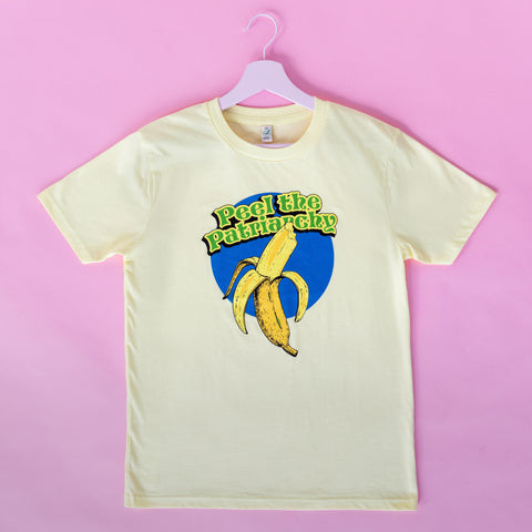 Peel the Patriarchy unisex T-shirt yellow mist