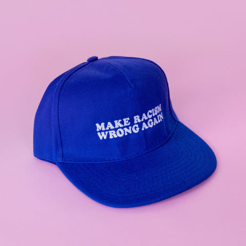 Make Racism Wrong Again Cap blau