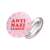 Anti Nazi League Badge pink