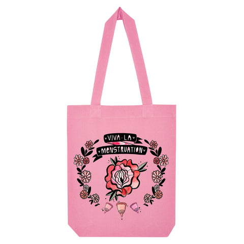Viva la Menstruation Tote Bag pink