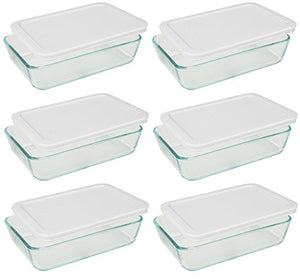 Pyrex - Rectangle Glass Food Storage Containers - Prep And Rally