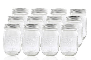 Ball Glass Mason Jar with Lid and Band - Prep And Rally