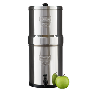 Berkey BK4X2-BB Big Berkey Stainless Steel Water Filtration System with 2 Black Filter Elements