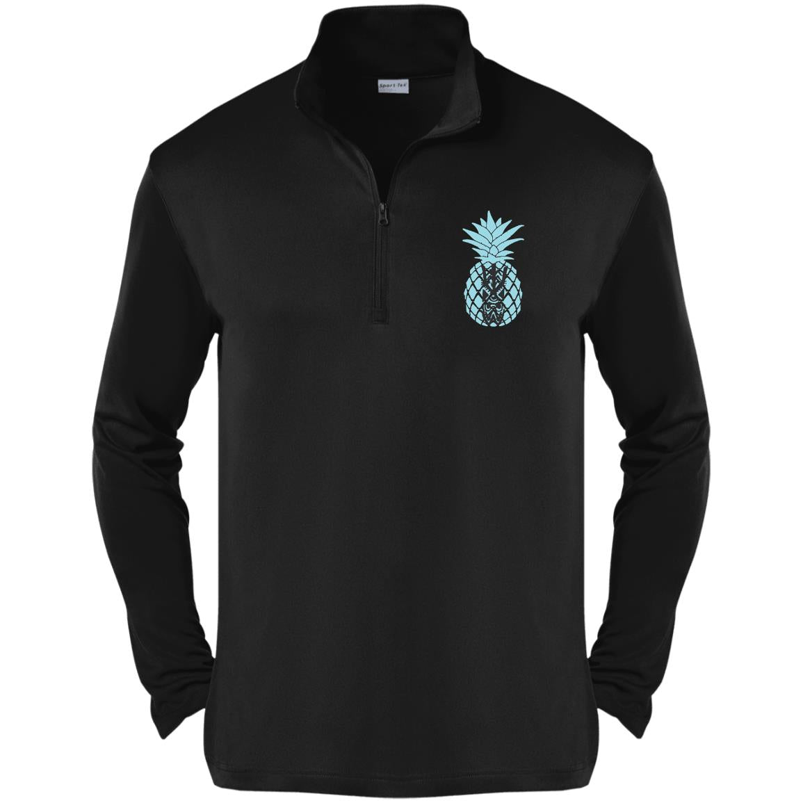 Tiki Pineapple 1/4-Zip Pullover - Baby Blue