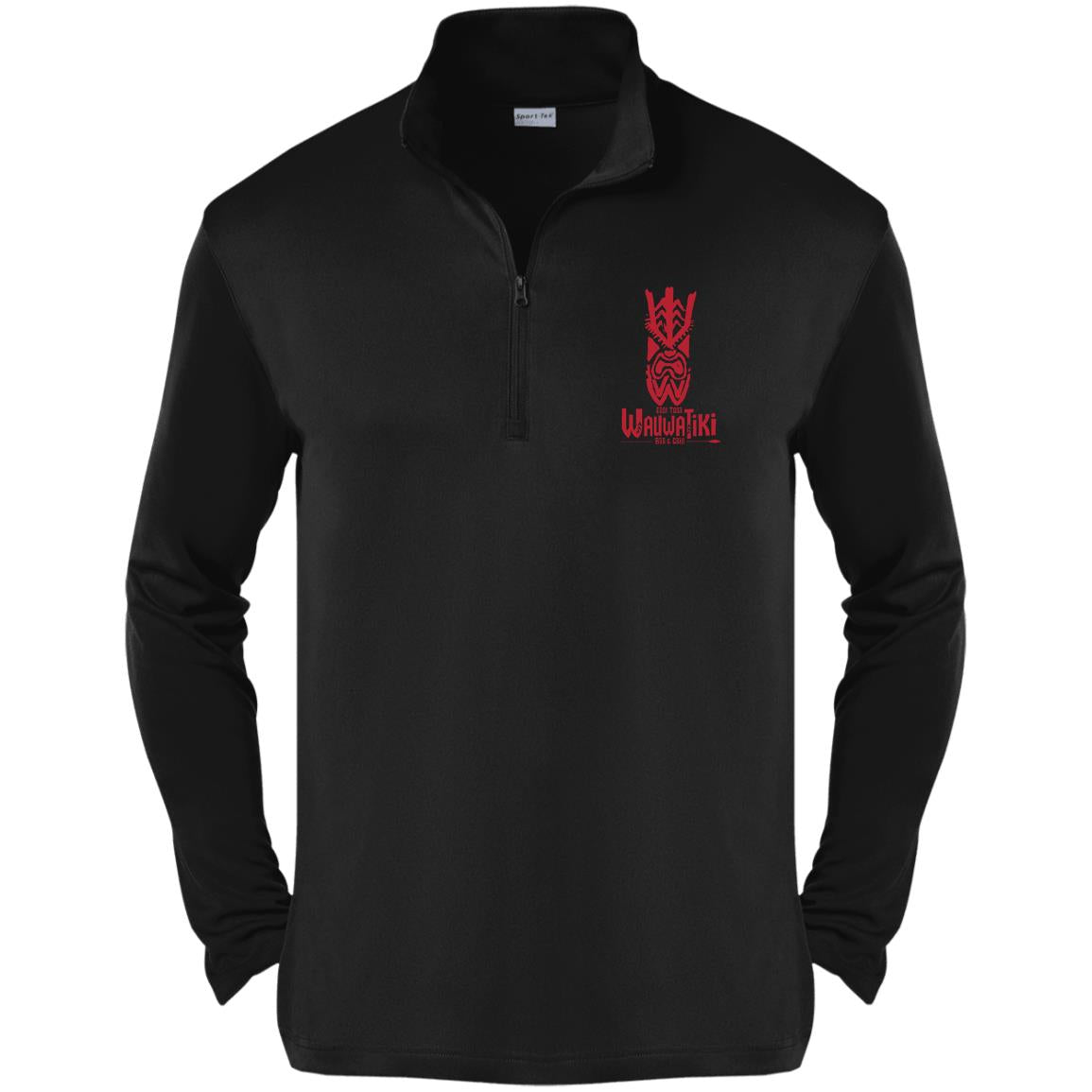 Tiki Mask Bar & Grill 1/4-Zip Pullover - Red
