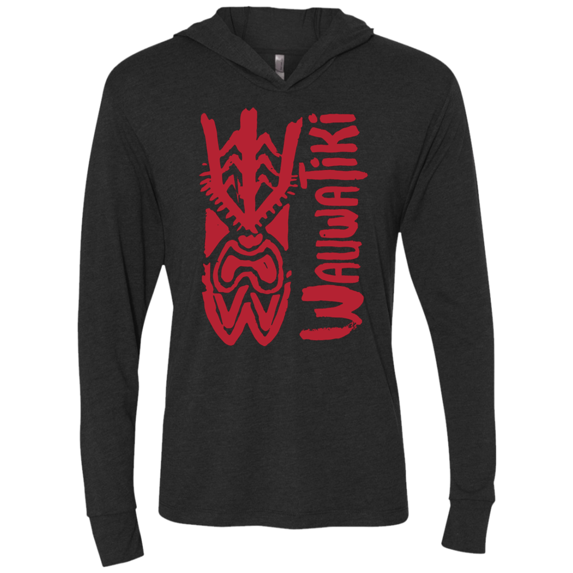 Tiki SBS Hooded T-Shirt - Red