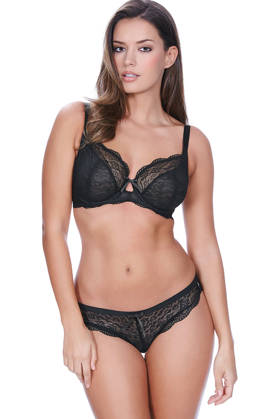 Freya Fancies Black Uw Plunge Bra