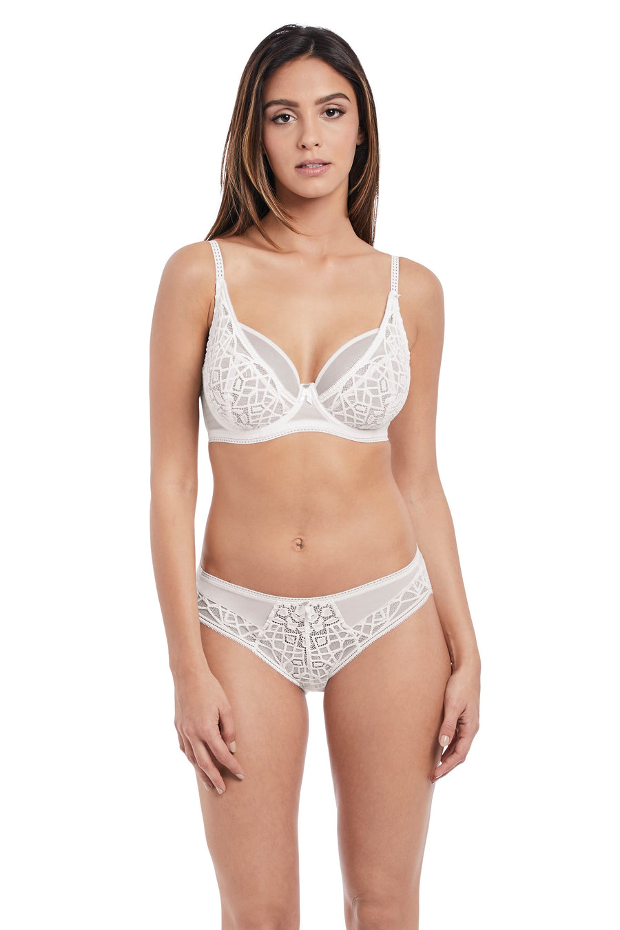 Freya - Soiree Lace White High Apex Bra