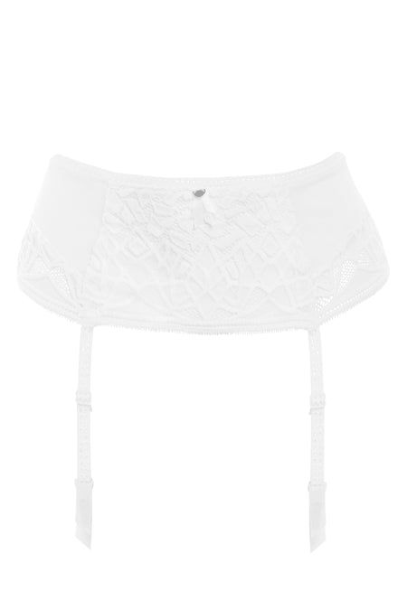Freya - Soiree Lace White Suspender