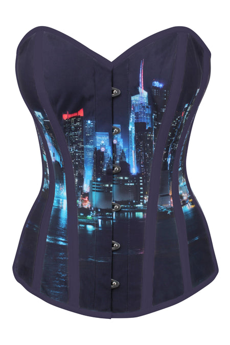 Evening Cityscape Overbust Corset