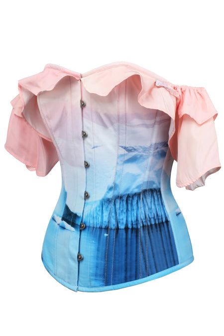 Baby Pink and Blue Glacial Corset Top