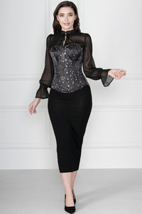 Astronomy Overbust Sleeved Corset Top