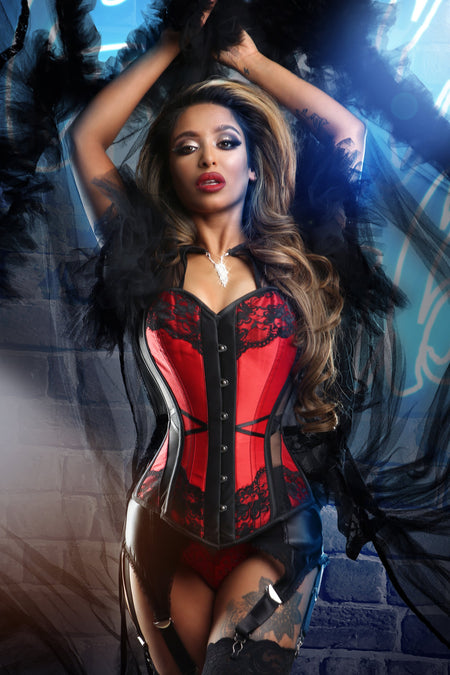 Gothic Inspired Mesh Overbust Corset