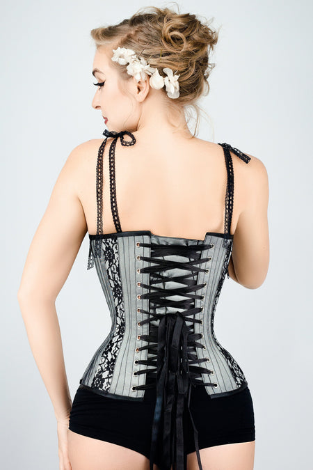 Delicate Lace Overlay Corset