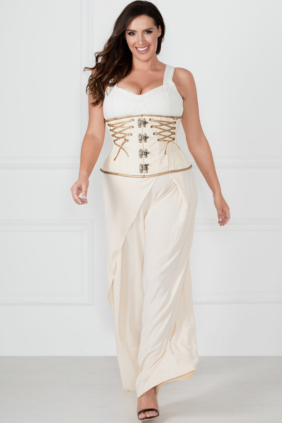 Ivory Underbust With Gold Detailing
