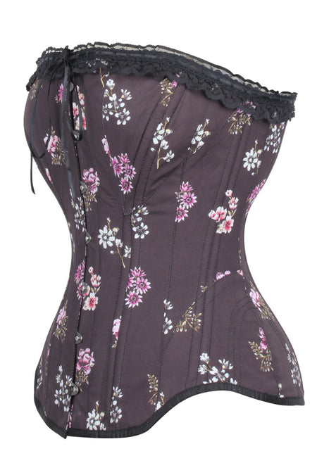Historically Inspired 1900-1950 Cotton Print Overbust Corset